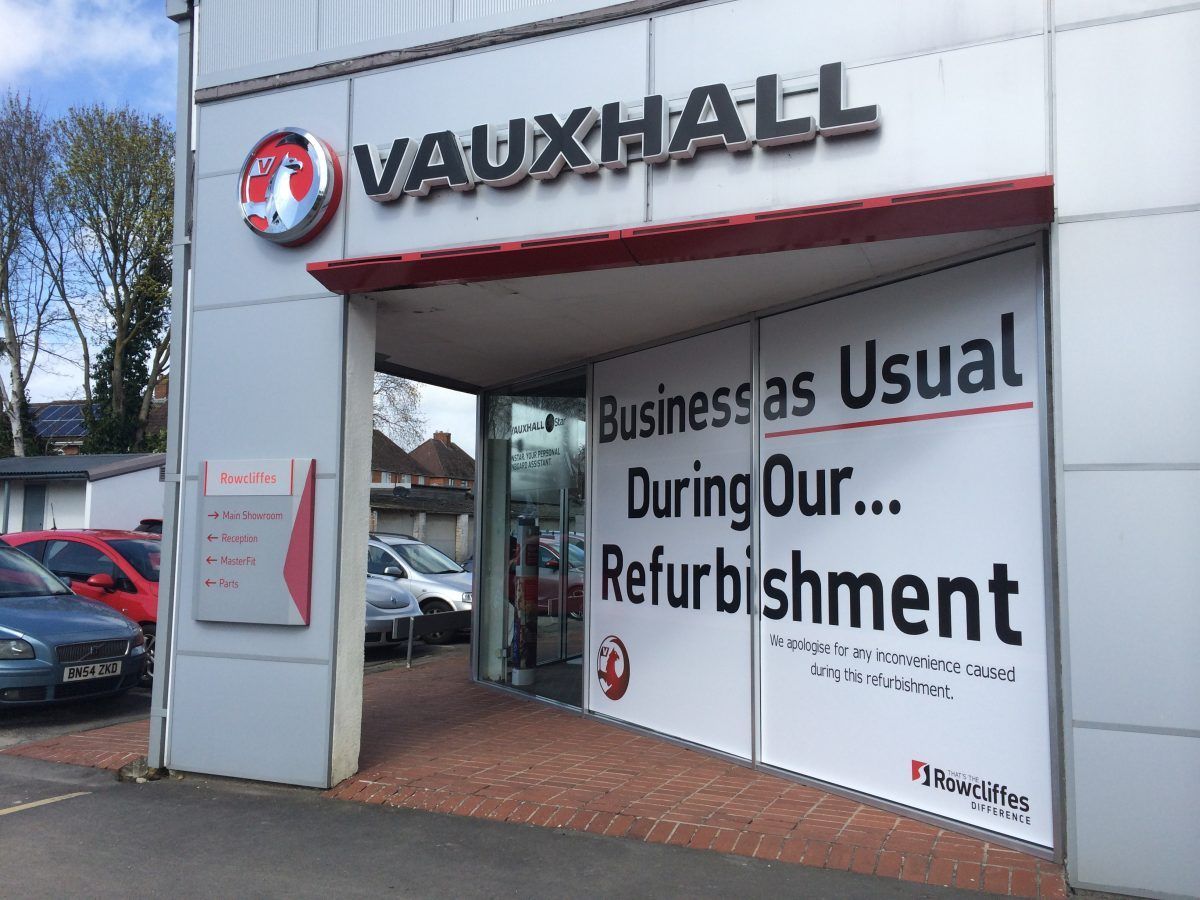 Vauxhall Showroom Future Signs Weston Super Mare