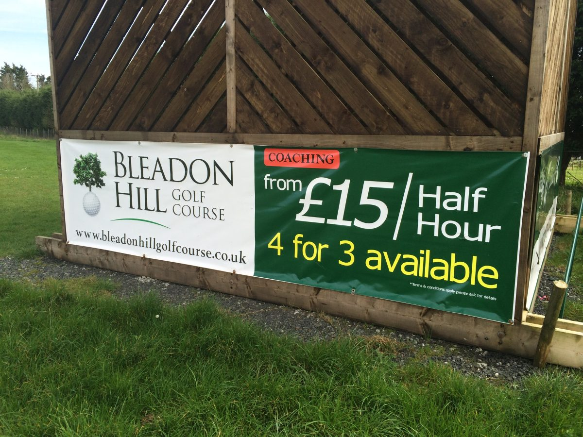 Bleadon Hill Golf Club Banner printed by Future Signs