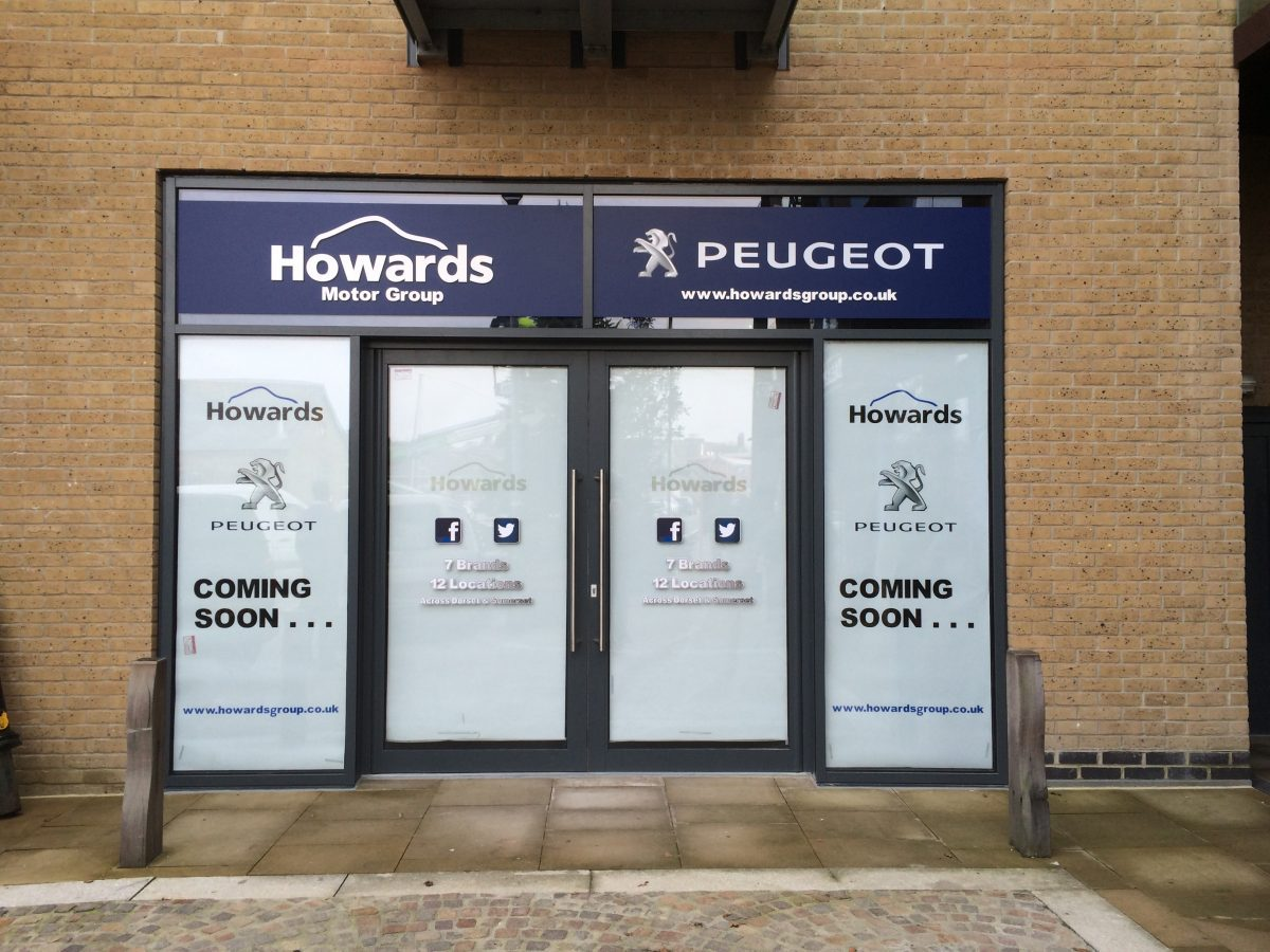 Howards Motor Group Shop Front Future Signs Weston