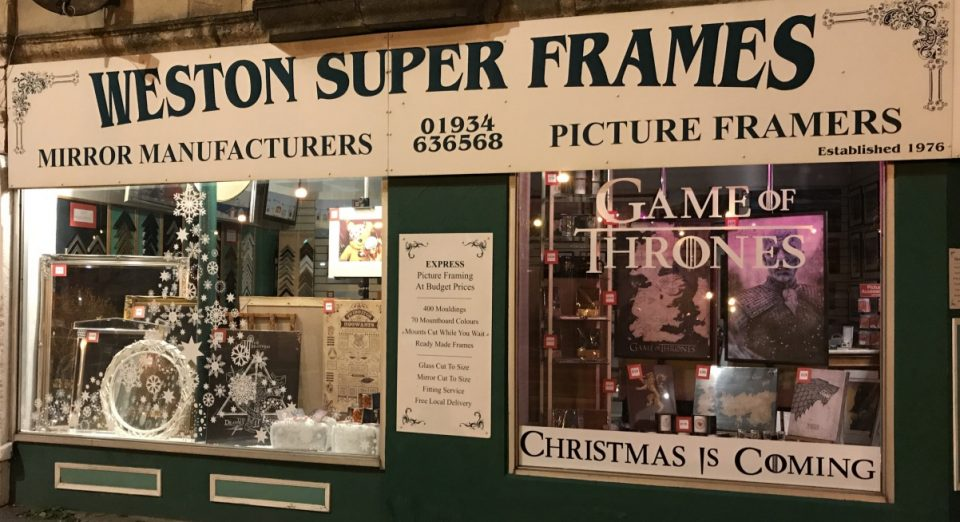 Game Of Thrones Christmas Is Coming Weston Super Frames