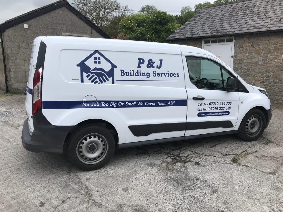 P Amp J Building Services Vehicle Graphics Future Signs